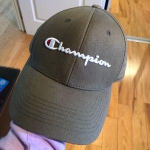 Green hat cap champion worn once